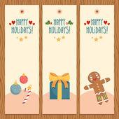 Horizontal christmas banners — Stock Vector