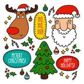 Set with Christmas symbols — Stock Vector