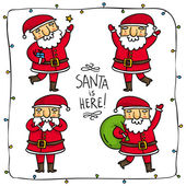 Santa Claus characters — Stock Vector