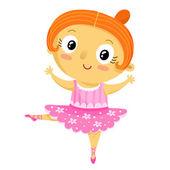 Girl ballerina cartoon character — Stock Vector