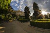 Royal palace gardens — Stock Photo