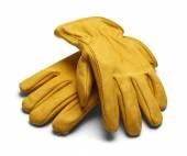 Deri iş eldivenleri — Stok fotoğraf
