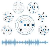 Ağ daireler ile soyut, eps10 illüstrasyon vektör — Stok Vektör