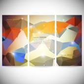 набор с абстрактные многоугольники, круги, линии и треугольники. треугольник дизайн векторные иллюстрации — Cтоковый вектор
