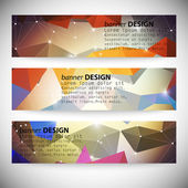Set with polygonal abstract shapes, circles, lines and triangles. Triangle design vector illustration — Stock Vector