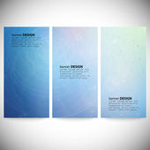 Set of vertical banners. Conceptual vector Design template. Abstract Background Vector — Stok Vektör