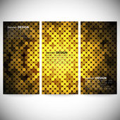 Set of vertical banners. Abstract golden dots background vector illustration — Stock Vector