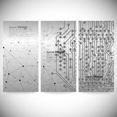 Set of vertical banners. Abstract gray background vector, illustration for communication — Stockvektor