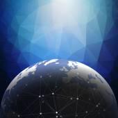 World globe connections network design illustration — Stock Photo
