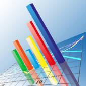 Progressive Bar chart. Abstract vector illustration — Vector de stock