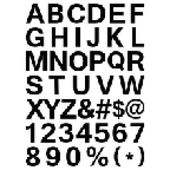 Pixel Font - Alphabets and numerals characters in retro square pixel font — Stock Vector