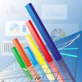 Progressive Bar chart. Abstract vector illustration — Stock Vector