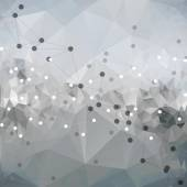 Molecule structure, background for communication, triangle design vector illustration — ストックベクタ