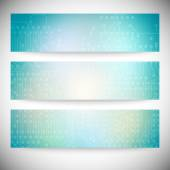 Set of horizontal banners. Microchip backgrounds, electronics circuit, EPS10 vector illustration — Stock vektor