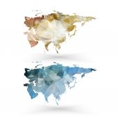 Eurasia map template, triangle design vector illustration — Stock Vector