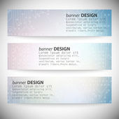 Set of horizontal banners. Microchip backgrounds, electronics circuit, EPS10 vector illustration — Vetorial Stock