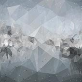 分子構造、コミュニケーション、三角形デザインのベクトル図の背景 — ストックベクタ