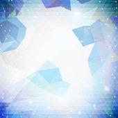 Colorido azul fundo geométrico, vetor de padrão do triângulo abstrato — Vetor de Stock