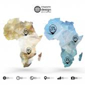 Africa map template, triangle design, infographics vector illustration — Stockvector