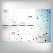 Big banners set, science backgrounds, molecule and communication backgrounds. Conceptual vector design templates. — Stock Vector