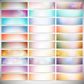 Big Abstract Colored Backgrounds Set. Modern horizontal banners, abstract banner design, business design and website templates vector — Stock Vector