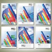 Progressive Bar chart. Brochure, flyer or report for business, templates vector — Stock Vector