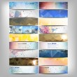 Big colored abstract banners set. Conceptual triangle design vector templates. — Stock Vector #60766381