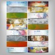 Big colored abstract banners set. Conceptual triangle design vector templates. — Stock Vector #61299509