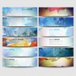 Big colored abstract banners set. Conceptual triangle design vector templates. — Stock Vector #62604811