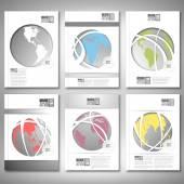 Renkli dünya küre. Broşür, el ilanı ya da rapor iş, şablon vektör için — Stok Vektör