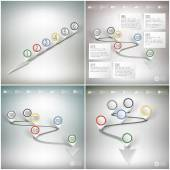 Timelines set with pointer marks. Infographics for business design and website templates — Vector de stock