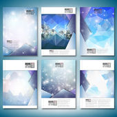 Abstract winter design background with snowflakes. Brochure, flyer or report for business, templates vector — Stock Vector