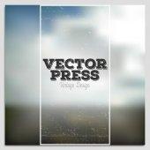 Vintage design vector press template. Summer time poster. Blurred mesh background — Stock Vector