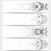 Web banners set, pinstripe design header layout templates — Stock Vector