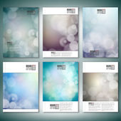 Blurry backgrounds with bokeh effect. Brochure, flyer or report for business, templates vector — Vetor de Stock