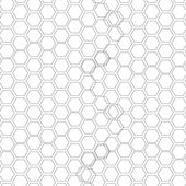 Hexagonal seamless pattern. Repeating geometric background with overlapped hexagons — Stock Vector