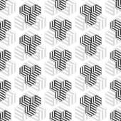 Seamless pattern with cubes. Repeating modern stylish geometric background. Simple abstract monochrome vector texture — Stock Vector