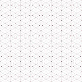 Dotted seamless pattern with rhombus and nodes. Repeating modern stylish geometric background. Simple abstract monochrome vector texture — Stock Vector