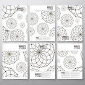 Dotted pattern with circles and nodes. Brochure, flyer or booklet for business, template vector — Stock Vector