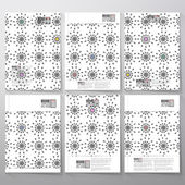 Abstract floral modern stylish geometric background. Simple abstract monochrome texture. Brochure, flyer or booklet for business, template vector — Stock Vector