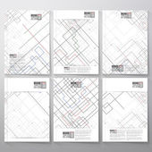 Technical construction with connected lines and dots.  Brochure, flyer or report for business, templates vector — Vector de stock