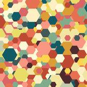 Geometric background, abstract hexagonal pattern vector — Stock Vector