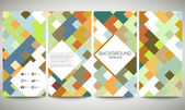 Colored banners collection, flyer layouts, vector illustration templates. Abstract colored backgrounds, square design — Stockvector