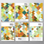 Abstract colored background, square design vector. Business vector templates for brochure, flyer or booklet — Stock Vector