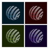 Abstract Globe — Stock Vector
