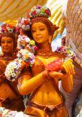 Forme d'art thaïlandais de cire (Ubon bougie Festival 2014) — Photo