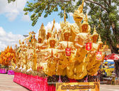 Thai art form of wax(Ubon Candle Festival 2014) — Stock Photo