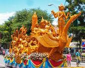 Thai art form of wax(Ubon Candle Festival 2014) — Stock Photo