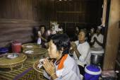 Religious ceremonies and ordination of men to a monk of Thailand Isaan — Fotografia Stock