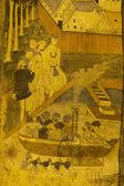 Plaatsen van aanbidding en tempel kunst van Thailand. — Stockfoto